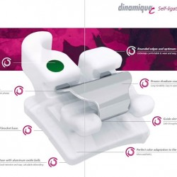 dinamique® c Self-ligating Ceramic Bracket .022 MBT